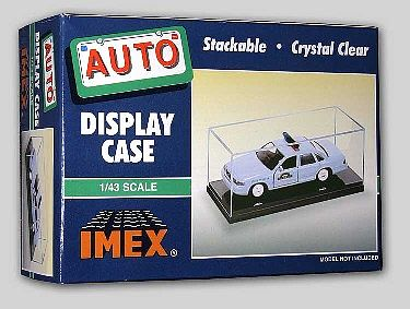 Imex Model Co Auto and Military Showcase Clear Base (2) -- Plastic Model Display Case -- 1/43 -- #2502