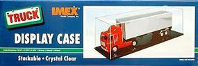 Imex Truck/RR Display Case 19 3/4x5 7/8x5 3/4 Black Base Plastic Model Display Case #2530