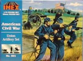 Imex Union Artillery Civil War Figure Set Plastic Model Military Figure 1/72 Scale #501