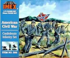 Imex Confederate Infantry Civil War Figure Set Plastic Model Military Figure 1/72 Scale #506