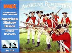 Imex Model Co British Redcoats -- Plastic Model Military Figure -- 1/72 Scale -- #512