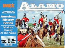 Imex Model Co Mexican Cavalry Alamo -- Western Plastic Model Kit -- 1/72 Scale -- #515