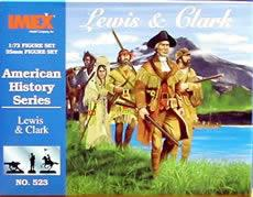 Imex Model Co Lewis and Clark Expedition Set -- Western Plastic Model Kit -- 1/72 Scale -- #523