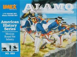 Imex Round Hat Infantry Alamo Plastic Model Military Figure 1/72 Scale #553