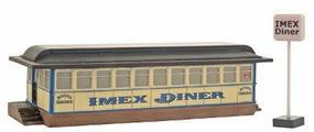 Imex IMEX Diner Assembled Perma-Scene HO Scale Model Railroad Building #6104