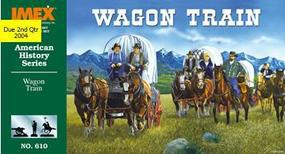 Imex Wagon Train Figure Set Plastic Model Western Kit 1/72 Scale #610