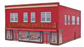 Imex F.W. Woolworth Co. Assembled Perma-Scene HO Scale Model Railroad Building #6117