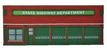 Imex Model Co State Highway Department Assembled Perma-Scene -- HO Scale Model Railroad Building -- #6134