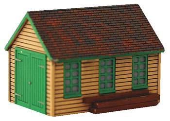 Imex Model Co Maintenance Shed Assembled Perma-Scene -- HO Scale Model Railroad Building -- #6141