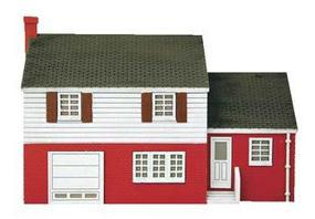 Imex Split-Level House Assembled Perma-Scene HO Scale Model Railroad Building #6144
