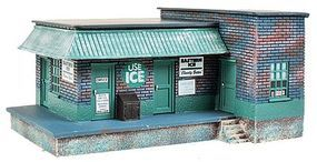Imex Ice House/Factory Assembled Perma-Scene HO Scale Model Railroad Building #6150