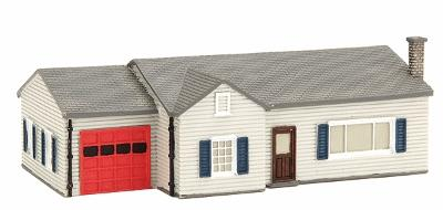 Imex Model Co Ranch House Assembled Perma-Scene -- N Scale Model Railroad Building -- #6309
