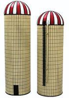 Imex Large & Small Silo Assembled Perma-Scene (2) N Scale Model Railroad Building #6318