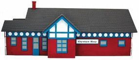 Imex Oyster Bay Station Assembled Perma-Scene N Scale Model Railroad Building #6330