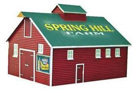 Imex Barn #2 Assembled Perma-Scene N Scale Model Railroad Building #6331