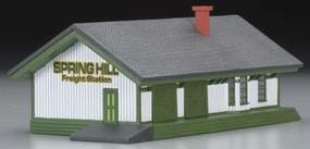Imex Freight Station Assembled Perma-Scene N Scale Model Railroad Building #6332