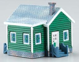 Imex Country Cottage Assembled Perma-Scene N Scale Model Railroad Building #6349