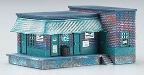 Imex Ice House/Factory Assembled Perma-Scene N Scale Model Railroad Building #6350