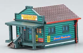 Imex Model Co Country General Store Assembled Perma-Scene -- N Scale Model Railroad Building -- #6359