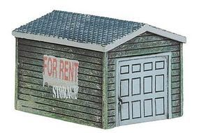 Imex Single-Car Garage Assembled Perma-Scene N Scale Model Railroad Building #6360