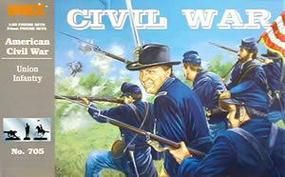 Imex Civil War Union Infantry (18) Plastic Model Military Figure 1/32 Scale #705