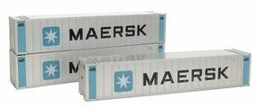 Intermountain 45 Rib Sided Container 3-Pack Maersk HO Scale Model Train Freight Load #30352