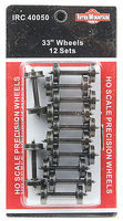 Intermountain All Brass Insulated Wheel Sets pkg(12) - 33 HO Scale Model Train Truck #40050