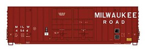 Intermountain Gunderson 50 Hi-Cube Double-Plug Door Boxcar - Ready to Run - Value Line Milwaukee Road (1970s, Boxcar Red, Medium Lettering)