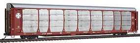 Intermountain Bi-Level Auto Rack on Flatcar AtSF HO Scale Model Train Freight Car #45251