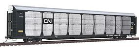 Intermountain Bi-Level Auto Rack on Flatcar Canadian National HO Scale Model Train Freight Car #45259