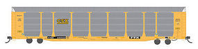 Intermountain Bi-Level Auto Rack with Flatcar CSX HO Scale Model Train Freight Car #45277