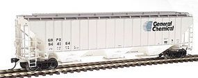 Intermountain 4750 Cubic Foot 3-Bay 18 Rib Covered Hopper HO Scale Model Train Freight Car #45344