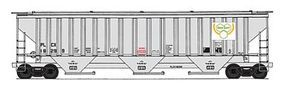 Intermountain PS2CD 4750 Cubic Foot 3-Bay Covered Hopper HO Scale Model Train Freight Car #45364