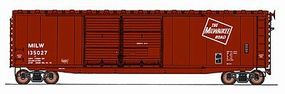 Intermountain 50 PS-1 Double-Door Boxcar Milwaukee Road HO Scale Model Train Freight Car #45619