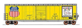 Intermountain PS-1 50 Double-Door Boxcar w/Cushion Underframe - Ready to Run Union Pacific (Armour Yellow, silver, Large Automated Railway & Shield Logos