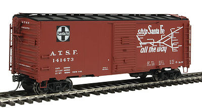 Intermountain Railway Company AAR 10'6'' Modified Boxcar Santa Fe Bx-37 Grand Canyon -- HO Scale Model Train Freight Car -- #45832