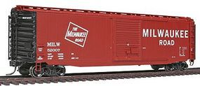 Intermountain 50 PS-1 Single-Door Boxcar Milwaukee Road HO Scale Model Train Freight Car #45927