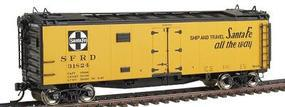 Intermountain 40 Steel Ice Reefer - Ready to Run - Santa Fe HO Scale Model Train Freight Car #46109