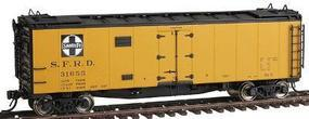 Intermountain 40 Steel Ice Reefer - Ready to Run Santa Fe S.F.R.D. HO Scale Model Train Freight Car #46117