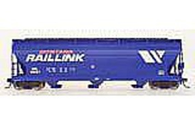 Intermountain 4650 Cubic Foot 3-Bay Covered Hopper Montana Rail Link HO Scale Model Train Freight Car #47037