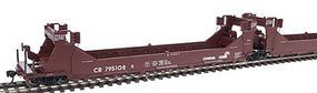 Intermountain Gunderson Twin Stack Five Unit Set Conrail Boxcar Red HO Scale Model Train Freight Car #47608