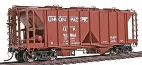 Intermountain 1958 Cubic Foot 2-Bay Covered Hopper Union Pacific HO Scale Model Train Freight Car #48606
