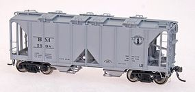 Intermountain 1958 Cubic Foot 2-Bay Covered Hopper Boston & Maine HO Scale Model Train Freight Car #48623