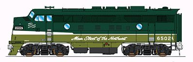 Intermountain Railway Company EMD F3A - Standard DC - Northern Pacific -- HO Scale Model Train Diesel Locomotive -- #49112