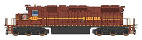 Intermountain EMD SD38-2 w/Loksound & DCC Duluth, Missabe & Iron Range (maroon, yellow)