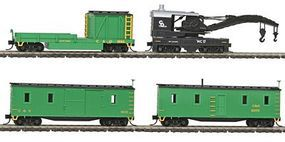 Intermountain 4-Car Wreck Train Set Chesapeake & Ohio N Scale Model Train Freight Car #650410