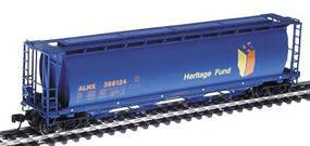 Intermountain 59 4-Bay Cylindrical Covered Hopper Alberta Heritage N Scale Model Train Freight Car #65103