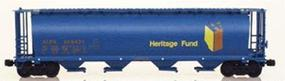 Intermountain 59 4-Bay Cylindrical Covered Hopper ALPX Alberta N Scale Model Train Freight Car #65104