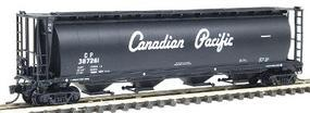 Intermountain 59 4-Bay Cylindrical Covered Hopper - Trough Hatch Version - Ready to Run Canadian Pacific (black w/white script name) - N-Scale