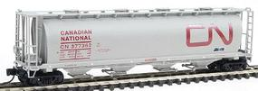 Intermountain 59 4-Bay Cylindrical Covered Hopper w/Round Hatches - Ready to Run Canadian National (gray, red, Large Noodle Logo) - N-Scale